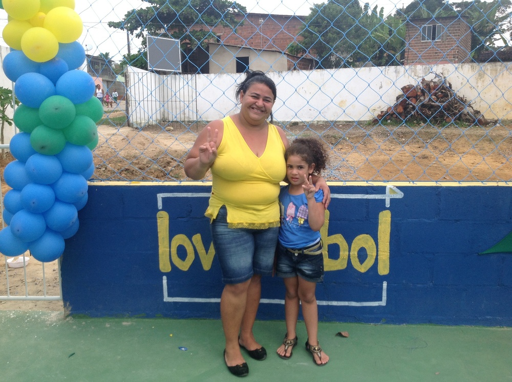 Sandra and her budding fútbol superstar daughter, Maria Clara.