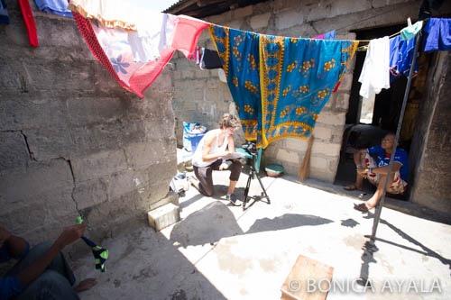 Megan filming NGQ team captain,Riziki. (Zanzibar)