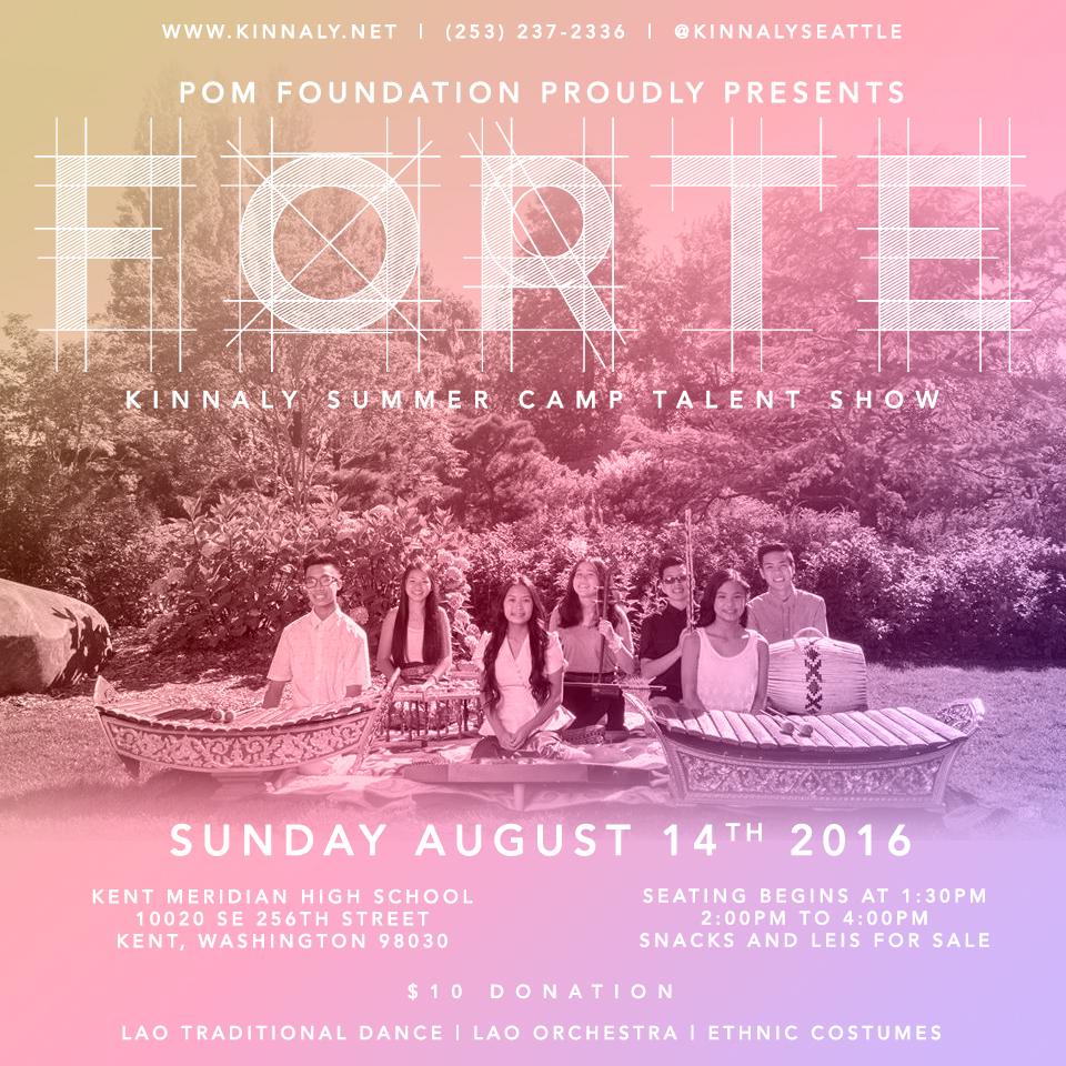 Kinnaly Forte 2016 Flyer #KinnalyFORTE