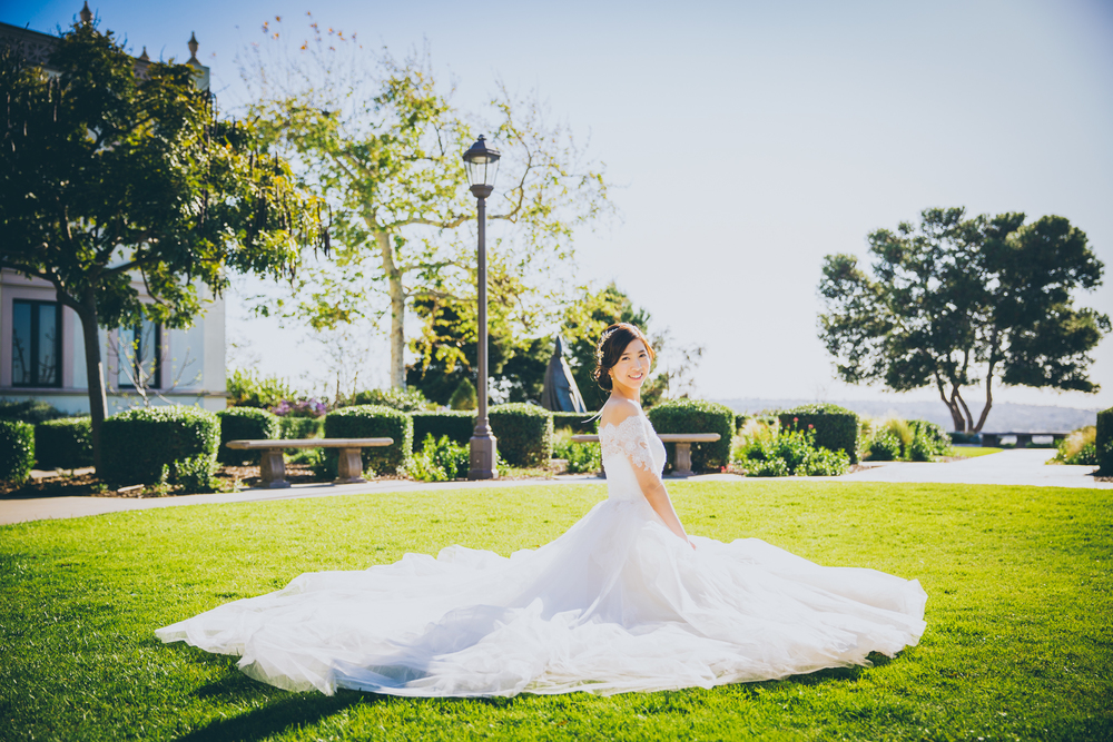 bride on the grass