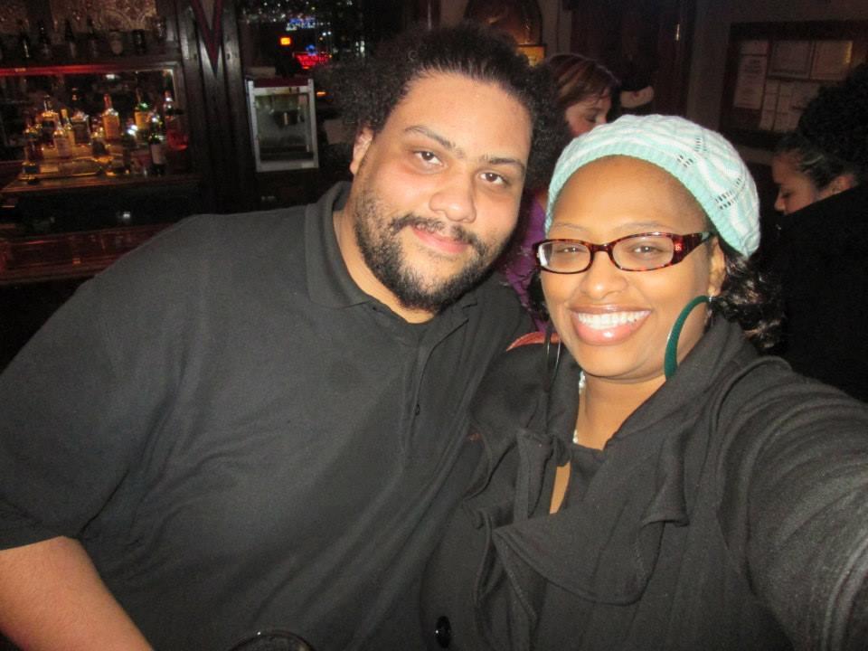 Erik Myles with Vickie Lynn(Photo by Vickie Lynn)