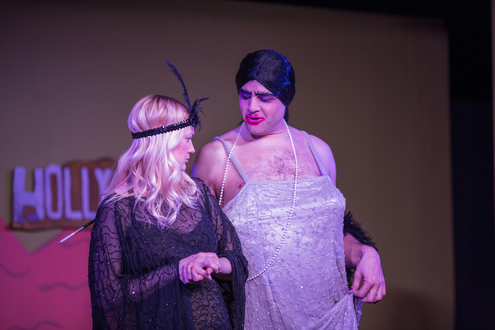 Erin Philpott (Madeline) and Mike Werckle (La Condesa) in Vampire Lesbians of Sodom (Photo by Mindy Joy)
