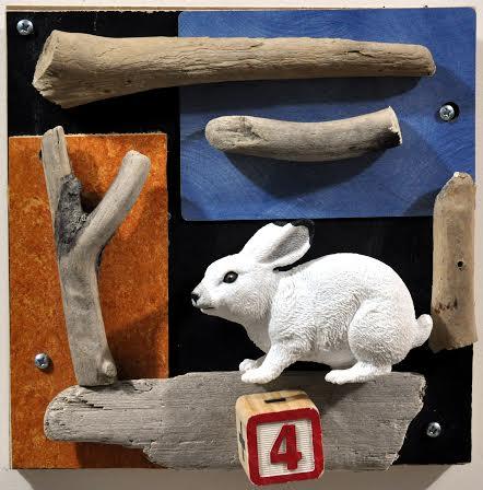 Woodland Bunny  by  Dvora Robinson , 2014, mixed media, 8 x 8 inches