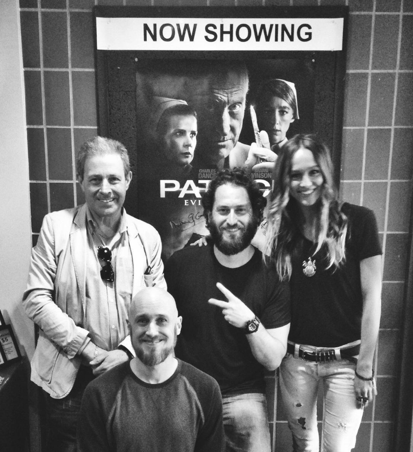 Leo Francis (below) with Anthony Ginnane (Producer of Patrick 1978 and 2014), Ted Cahn (Arena Cinema) and Sharni Vinson.
