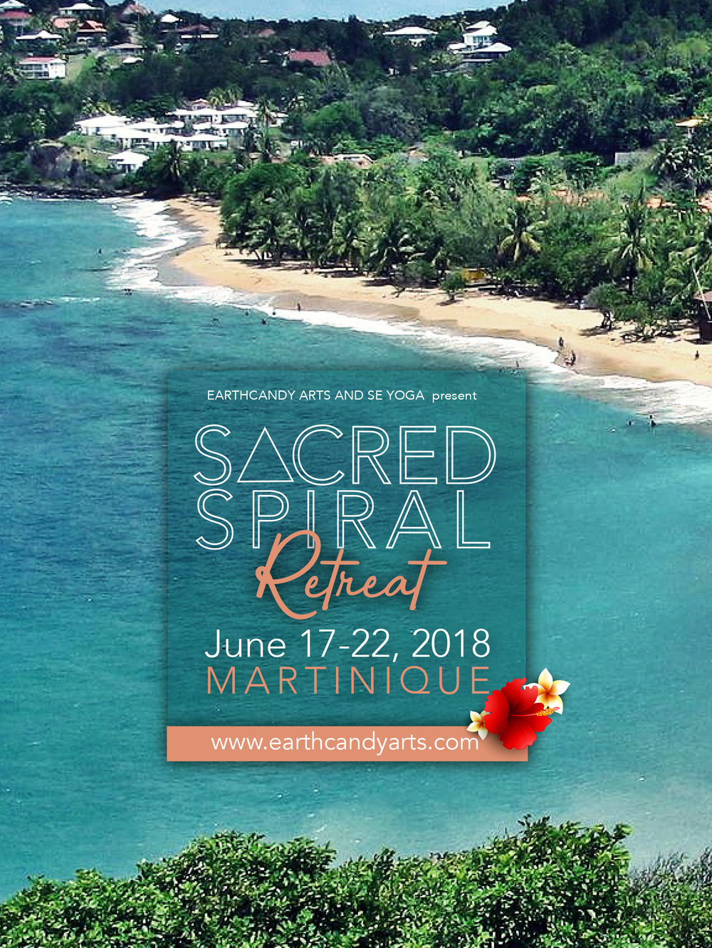 SACRED SPIRAL RETREAT - Spend 5 days in the French West Indies immersed in the beauty and magic of the island of Martinique for a Wellness retreat, curated by Jamila Crawford Pécou and Ebony DesRoses.SACRED SPIRAL is suitable for those who want to align themselves on all levels. We offer you the opportunity to gently leave your comfort zone, while still creating a nurturing, healthy and safe adventure in a beautiful environment. It's about connection, enjoying life, holistic living, vegan food and paradise! This is your sacred space-- a time to relax and fully focus on you and yourself.Come take the time just to 'BE': be the free spirit, the adventure seeking traveller, the pursuer of happiness...