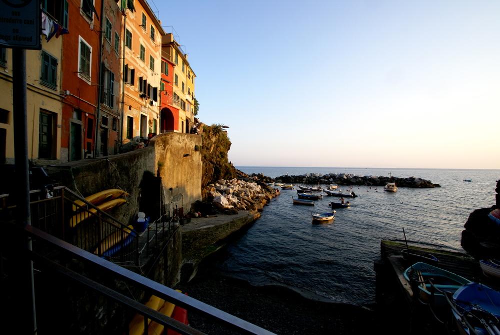 Sunset in Riomaggiore, Cinque Terre