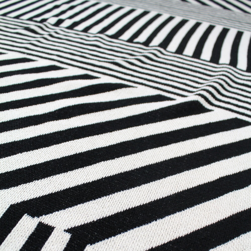 Mixed Up Stripes Black Ivory Happy Habitat By Karrie Dean Fascinating Black And White Striped Throw Blanket