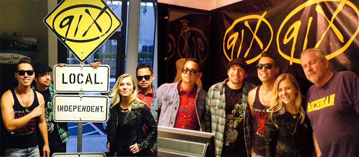 Aloha Radio at 91X San Diego before Belly Up Tavern Gig
