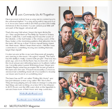 Aloha Radio Featured in Motovaded Magazine