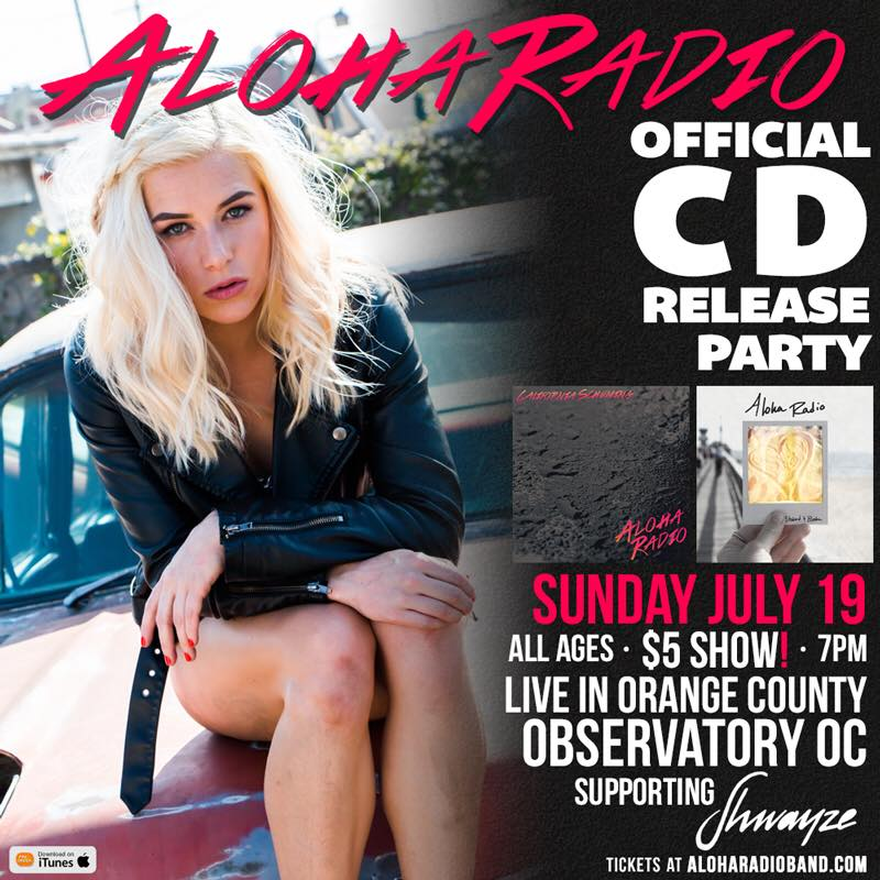 Aloha Radio will celebrate the release of their two new albums supporting Shwayze this Sunday, July 19th at the Observatory in Santa Ana, California.