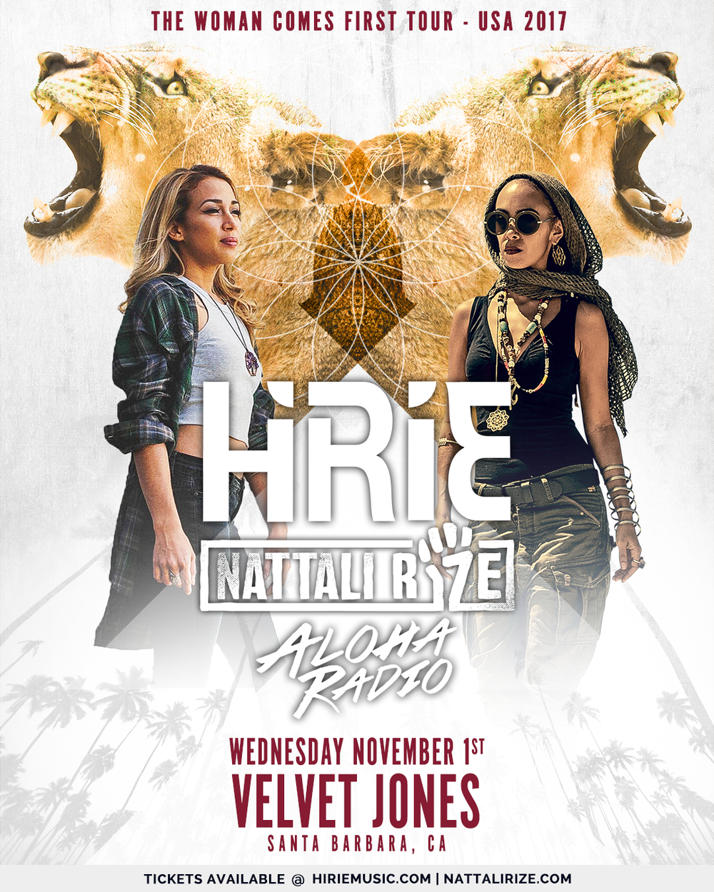 Aloha Radio will join Hirie and Nattali Rize at Velvet Jones in Santa Barbara, CA Wednesday, November 1st!