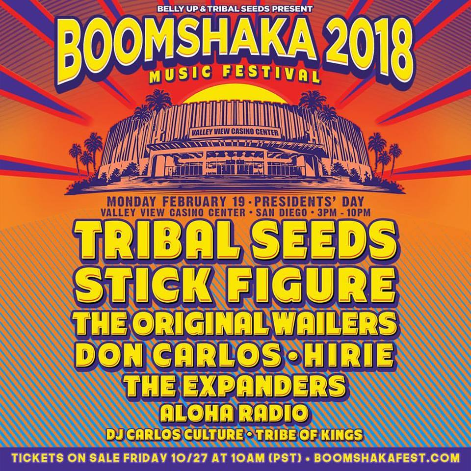 Aloha Radio will perform at the 2018 Boomshaka Music Festival alongside Stick Figure, Tribal Seeds, The Original Wailers, Don Carlos, Hirie and The Expanders.