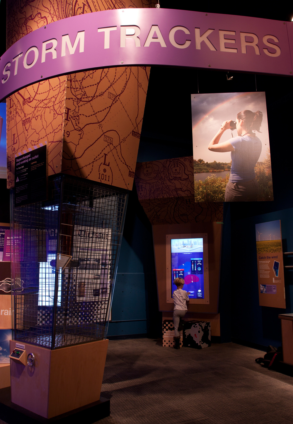 The  Storm Trackers  exhibit. Photo by TELUS World of Science.