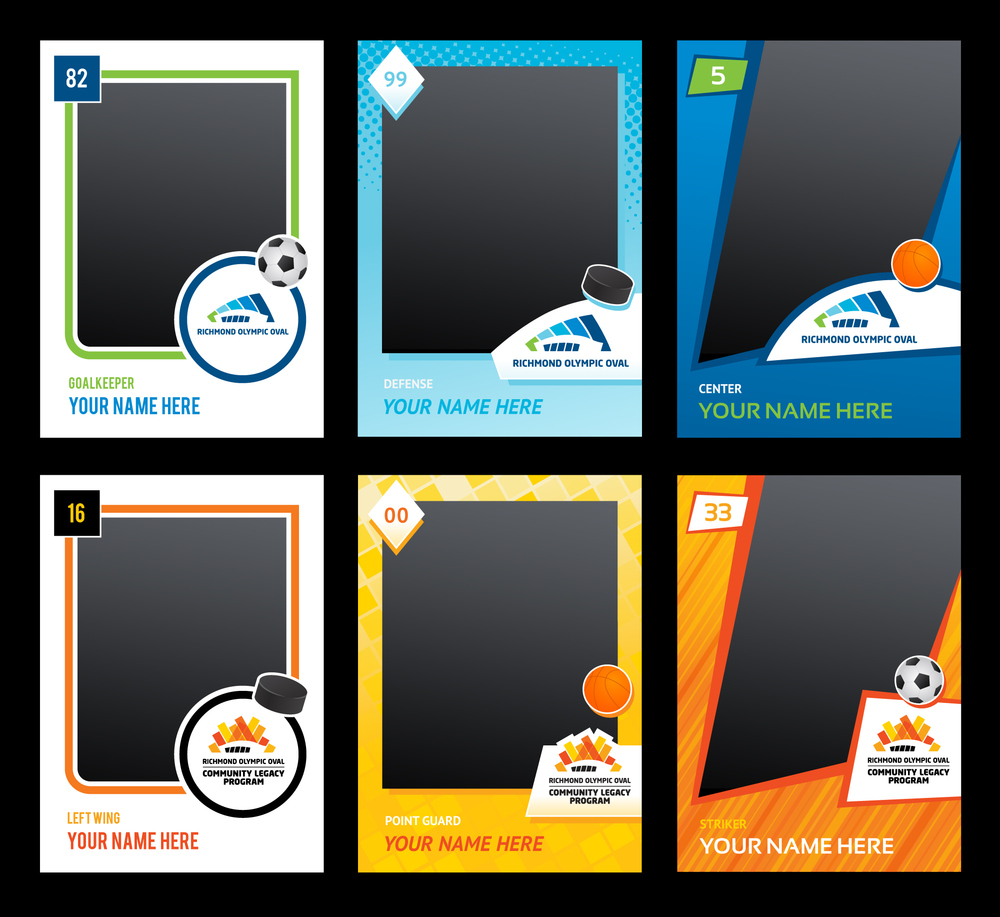 Creating different sports cards and icons was lots of fun. We went for vintage, classic and modern looks.