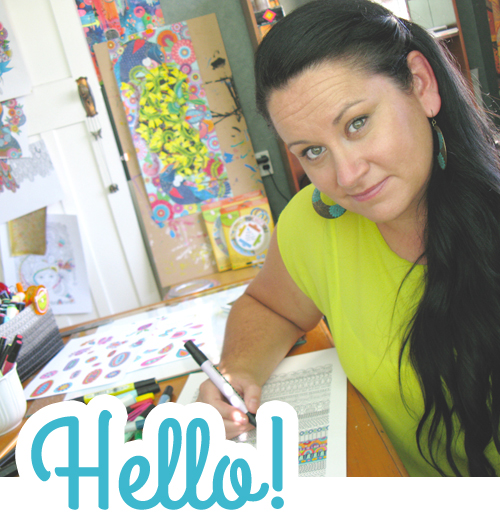 I'm Angel, the art illustrator behind all the colourful creations on display here. I'm also a mum, a daydreamer and have a slightly skewed sense of  humor. I create for fun, love & money! If your interested in working together get in touch here >>>  ♥   Angel xx