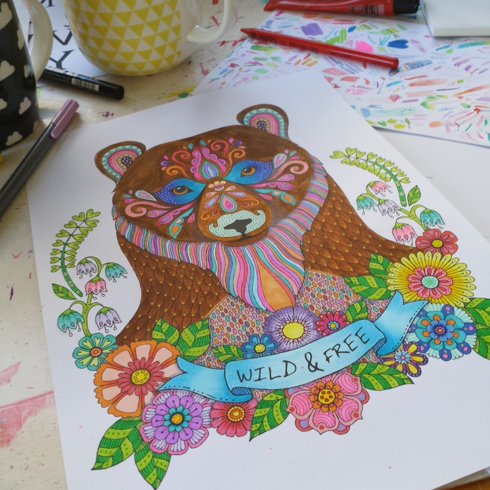The last colouring for 2015 is on my desk right now and the cover art for my new Animal book available in January 2016.