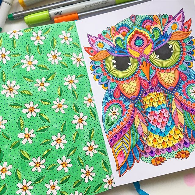 Thanks for all the healing thoughts gang, you guys are so sweet 💚 . My right hand is feeling much better today, a bit sore and stiff but I can hold my pens-Yass!!! I warmed up today with the green daisy page, don't look to hard it's a bit rough 😆 . Grumpy Mr Owl over there was done while awaiting the royal wedding coverage and a day or two after 😜 . . . . . #sketchbook #sketch #owl #owltattoo #owlart #drawing #iwanttobeacopicambassador #leuchtturm1917 #digitaldetoxlt1917 #larrypostdigitaldetox #daisyfield #daisychain #green #bird #owlsofinstagram #helloangelcreative #art #illustration #colorful #brightart #copiccaio #copicmarkers #markerart #markers #drawingbook #sketchbookart