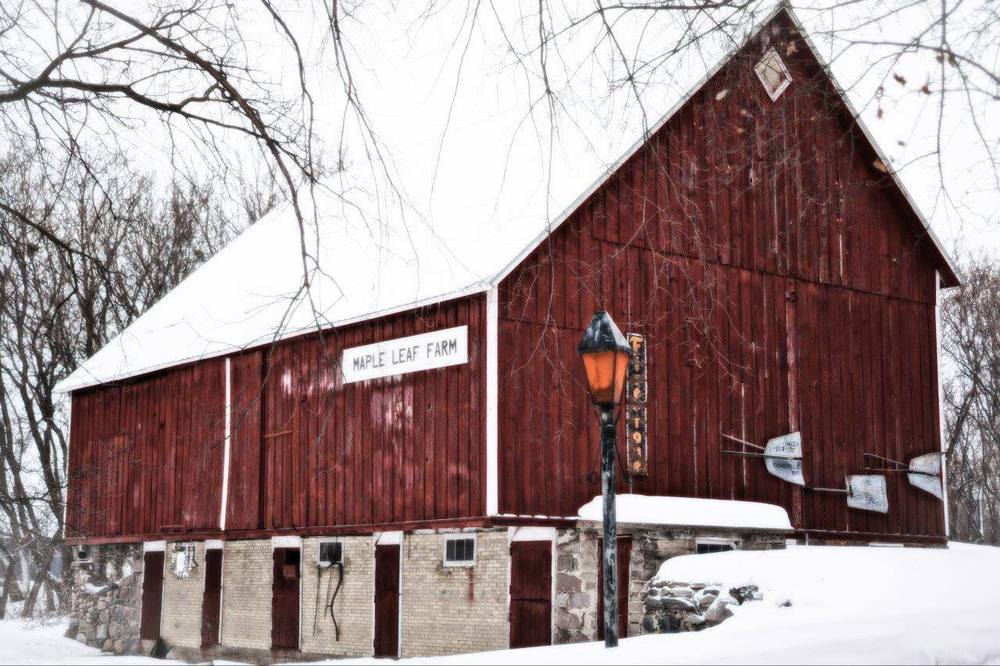 Barns in Winter, 3rd Place - Lorianne Barthel Ende