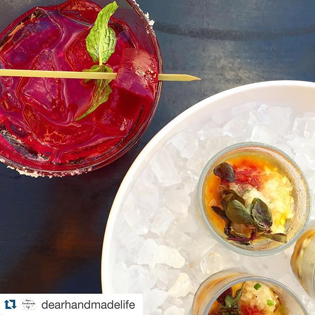 #Repost @dearhandmadelife ・・・ Happy hour at @migrantmaui one of the best deals + food in town--every day with an ocean view 👍😎🍹 Xo- d #calamasi #beets #happyhour #Maui #mahalo