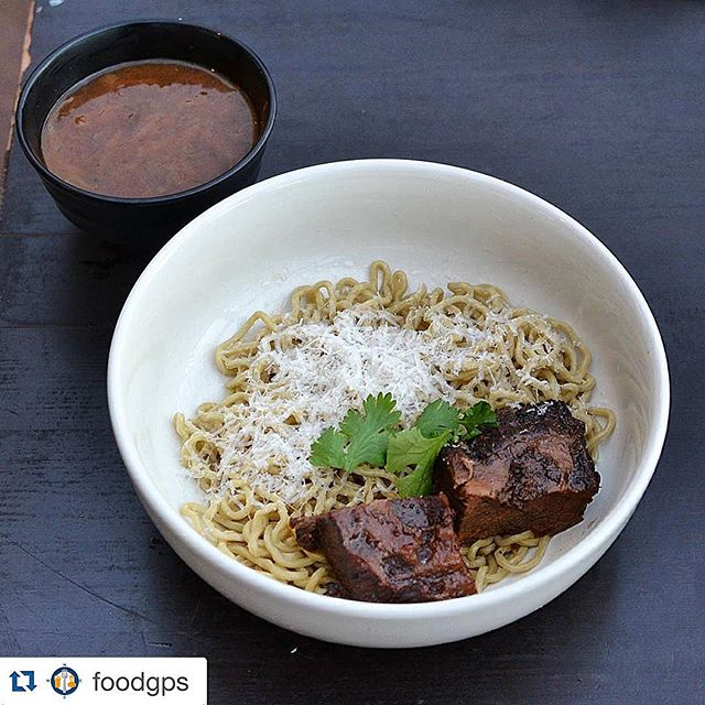 #Repost @foodgps ・・・ One of the most creative noodle dishes I've seen all year was at @migrantmaui, where @chefwonder serves French Onion Tsukemen. He showers noodles with grated Gruyere and serves with short rib and rich Maui onion soup.