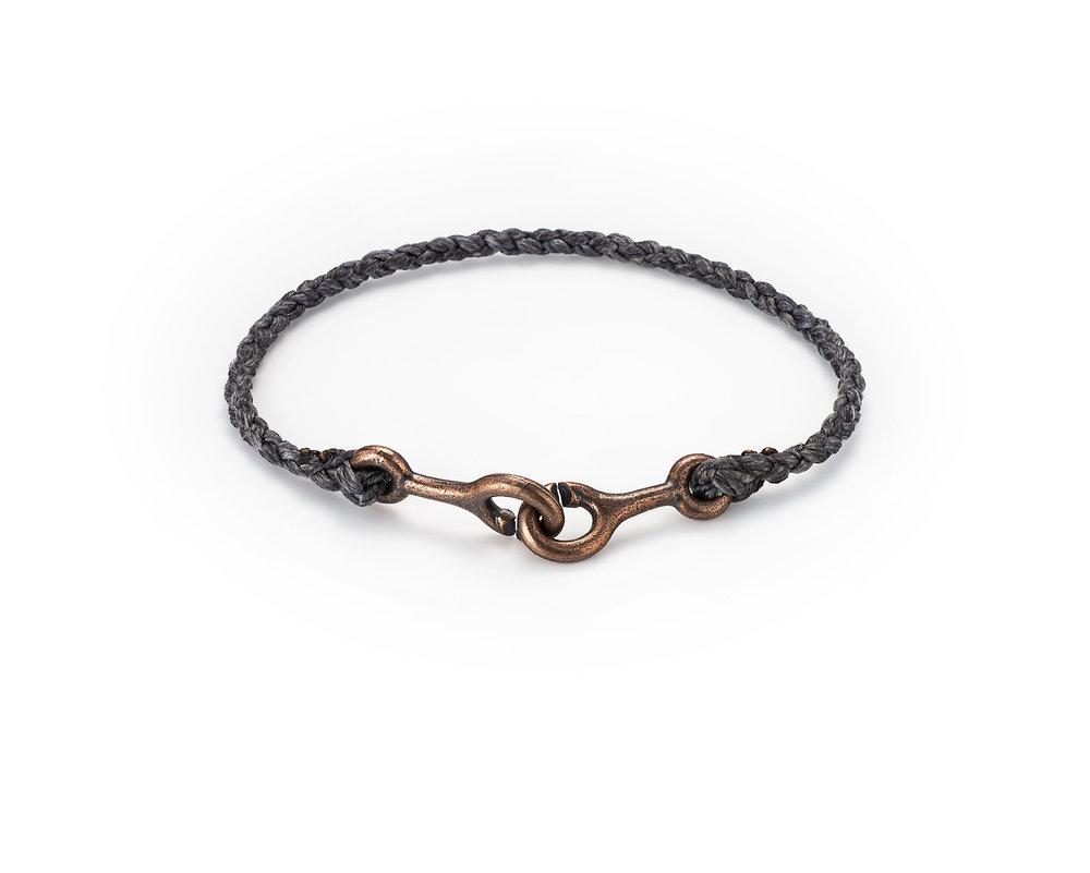 sister clasp bracelet hand braided shibuitchi