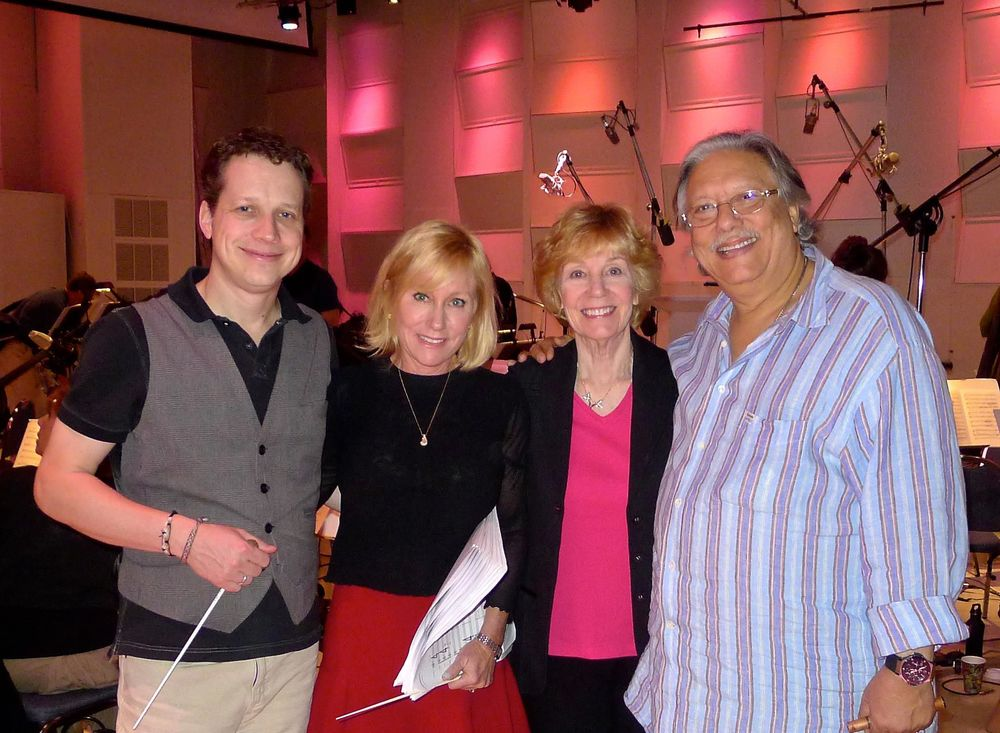 CW, Nan Schwartz, Gayle Levant, Arturo Sandoval at East West Studios (2013)