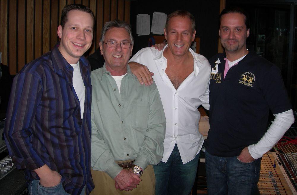 CW, Al Schmitt, Michael Bolton, Alex C. at Capitol Studios (2006)