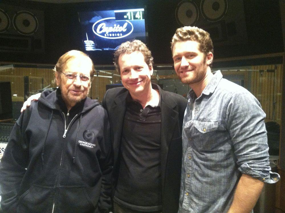 Phil Ramone, CW, Matthew Morrison at Capitol Studios (2012)
