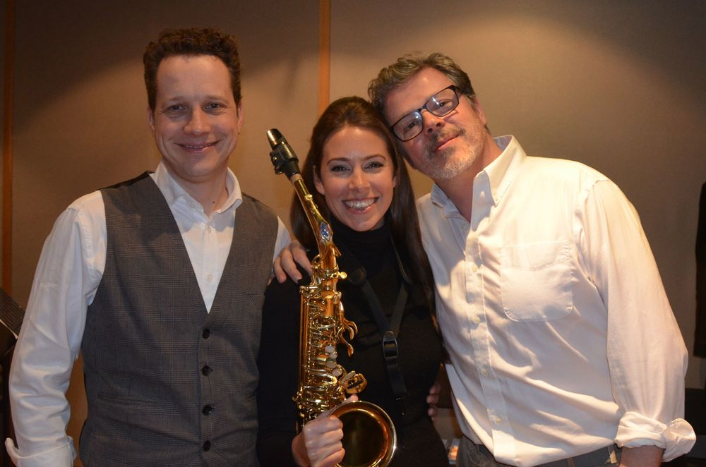 CW, Amy Dickson, James McMillan at Angel Studios, London (2014)