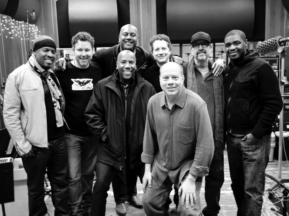 Michael Bearden, David Delhomme, Nathan East, Tariqh Akoni, CW, Bill Smith, Luis Conte, Teddy Campbell at Conway Studios (2012)