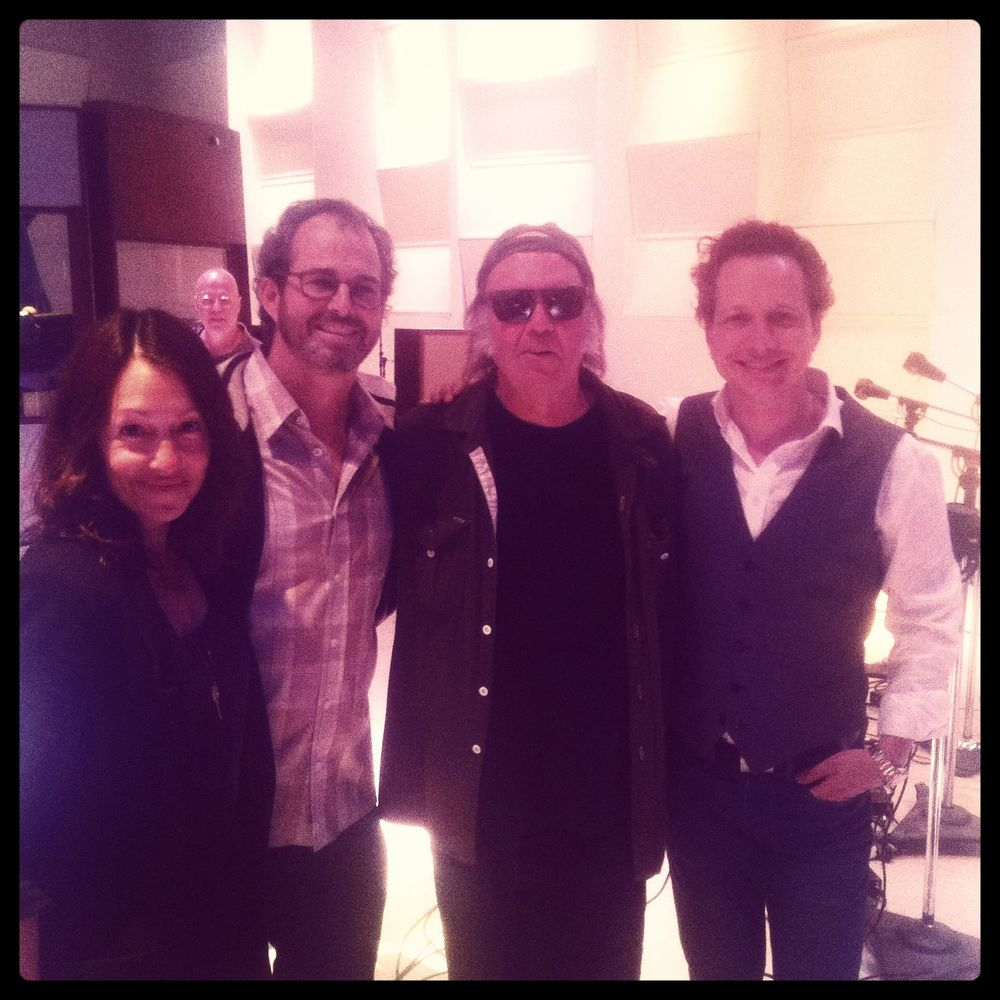 Gina Zimmitti, Joe Z., Neil Young, CW at EastWest Studios (2014)