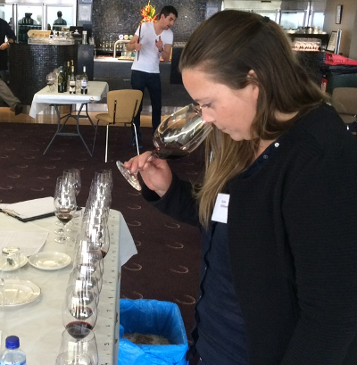 Kate judging at the recent Winewise Small Vigneron Awards
