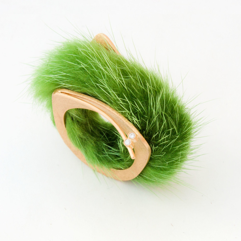 Mink insert - in green