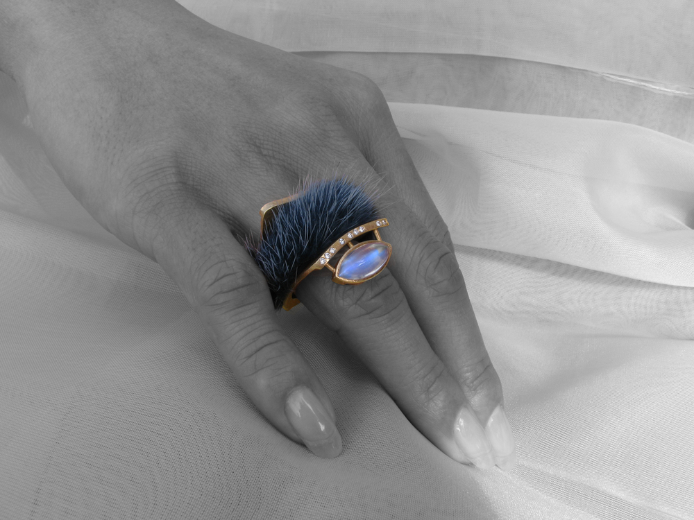 Mink insert - in blue