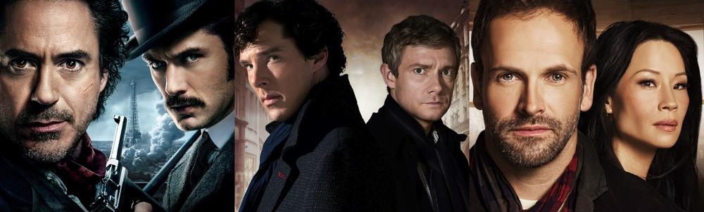 Sherlock Holmes Movie, Sherlock BBC, Elementary CBS poster