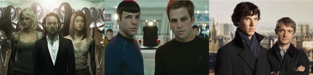 Battlestar Galactica, Star Trek (2009), Sherlock
