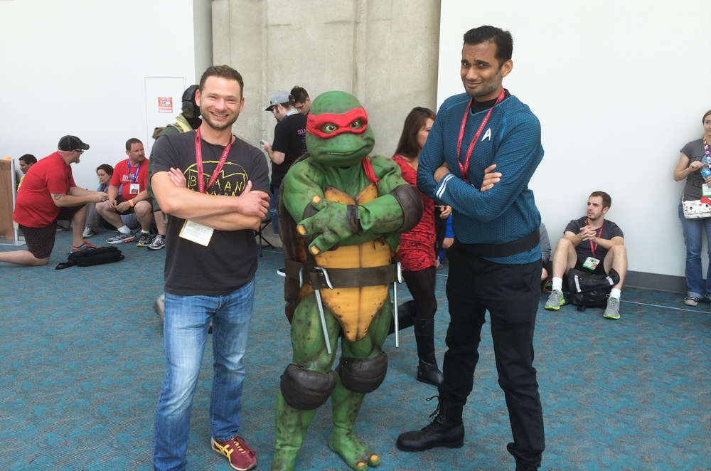 Lowen Baumgarten,Raphael, and Ali Mattu at San Diego Comic Con 2014
