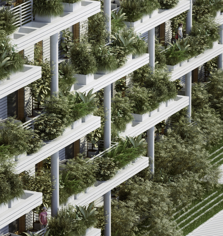Penda, Sky Villas with Vertical Gardens ,Hyderabad.