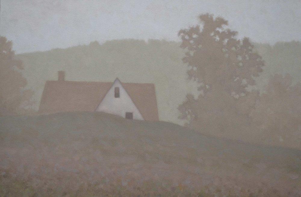 """""""Fog"""", oil on canvas, 30 x 20""""."""