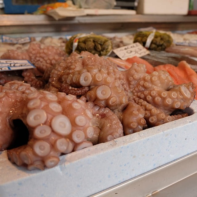 Octopus at the market
