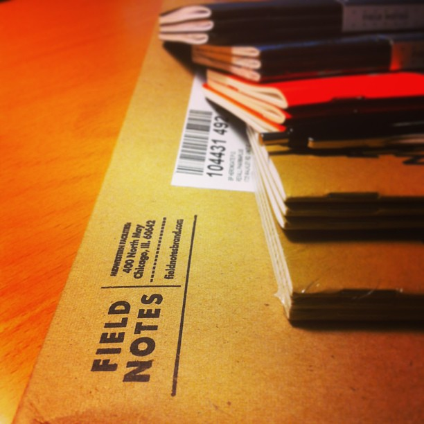Subscription Day! Extra happy. @fieldnotesbrand.