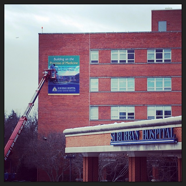 We are ringing in the New Year with a new banner on our hospital celebrating 70 years of serving our community and our affiliation with Johns Hopkins Medicine. We have a special 70th anniversary present for you tomorrow so make sure you stop by our Facebook page and check it out!  What do you think about our new banner? Let us know in the comments.