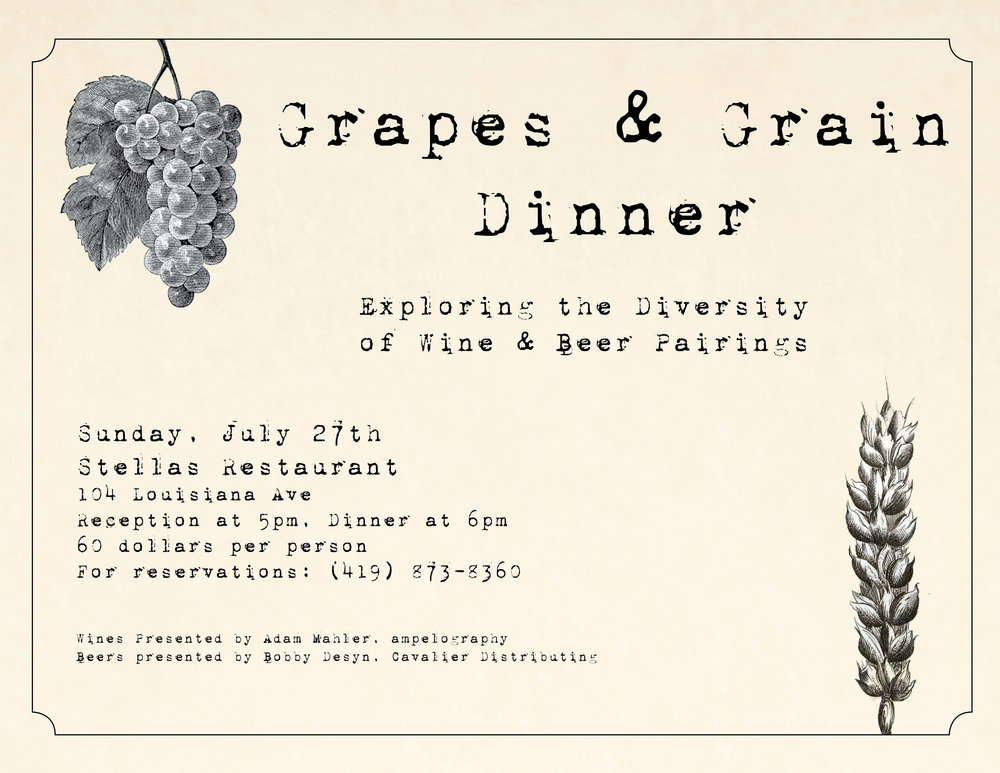Grapes and Grain Dinner