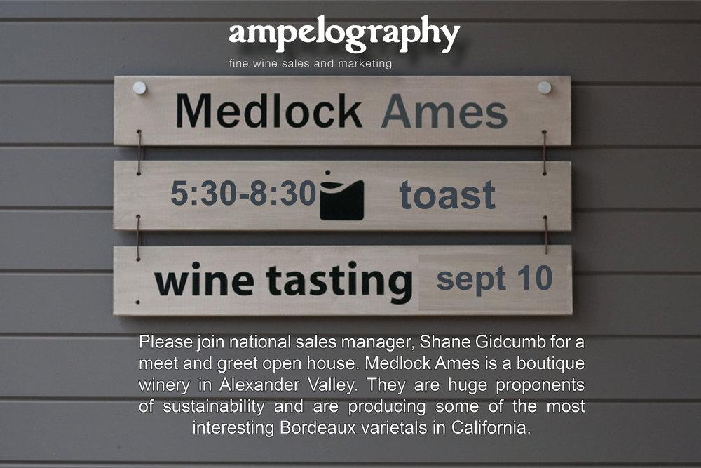 Medlock Ames Trade Tasting