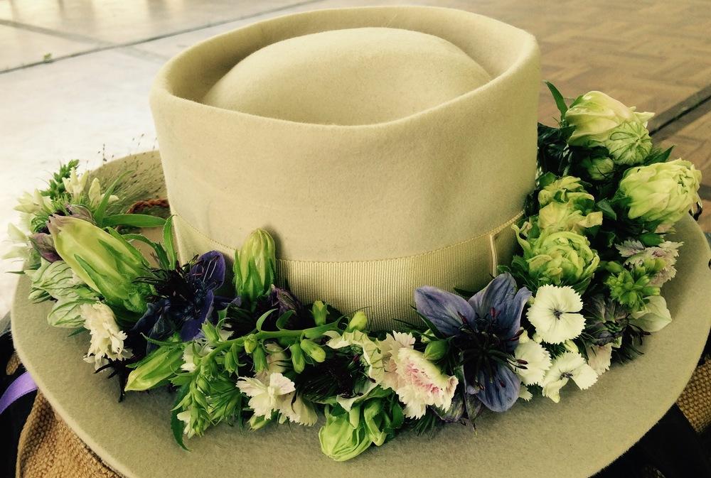 Annie Hall flower crown early summer, Hudson Valley