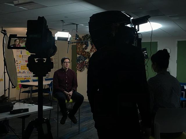 Smart people talking about smart things. #memorialsloankettering @themuse #interviews #blackmagic #aputure #cinematography #onset #feelingdumb @plastictreeproductions