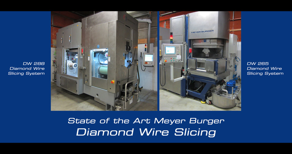 Meyer Burger Diamond Wire Slicing Saws