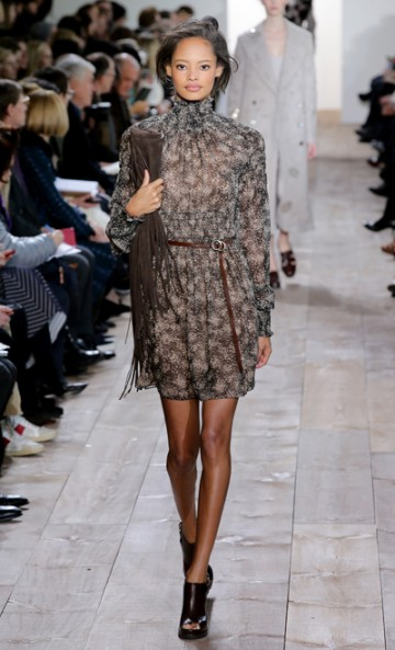 this dress is so fun and flirty! i want!  michael kors fall 2014