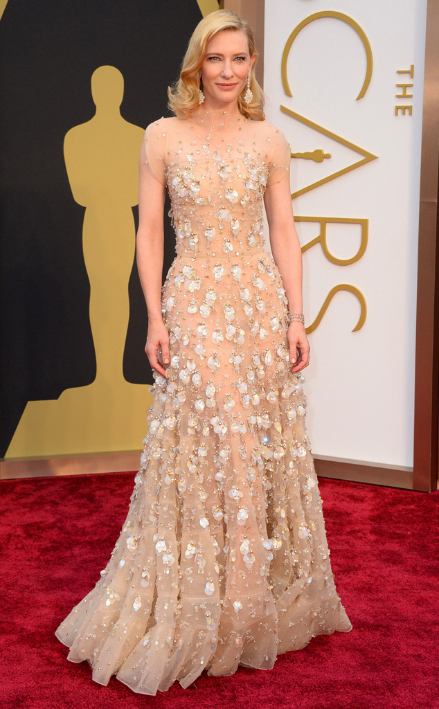 cate blanchett in giorgio armani, love that it matches her skin color and i'm glad she won