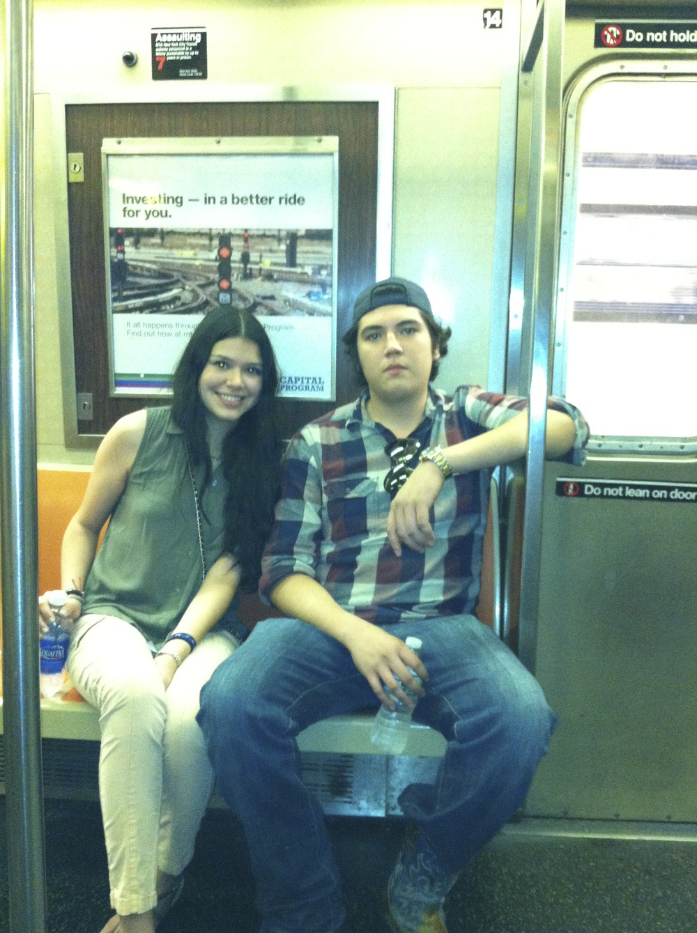 those subway rides! this was the morning after our first night there, waters were much need due to our hangovers!